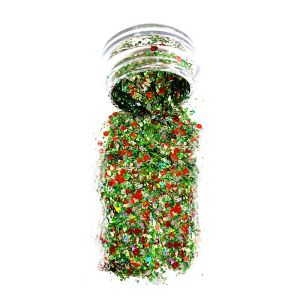 Green Silver Chunky Body glitter Pot