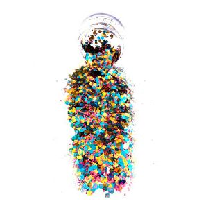 Assorted Color Chunky Body Glitter Pot