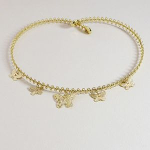 Gold Butterfly Metal Clavicle Necklace Choker