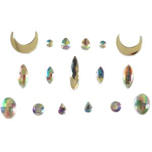 Moon Teardrops Irredescent Individual Body jewel