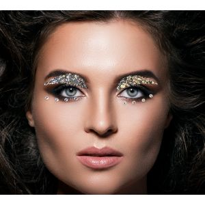 Silver Eyeshadow Face Gems