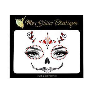 Candy Skull Jewels Halloween Sticker