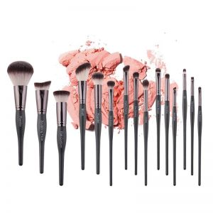 15 Piece Grey Makeup Brushes Set