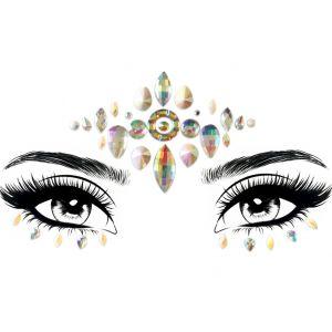 Iridescent Pearl Face Gems
