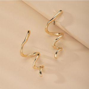Snake-shaped Popular Metal Earrings