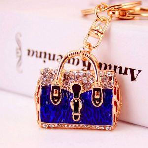Blue Handbag Keychain