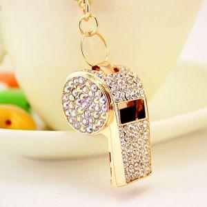 Diamond-studded Whistle Keychain
