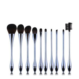 10 Stemware Artificial Fibre Makeup Brush Set Blue