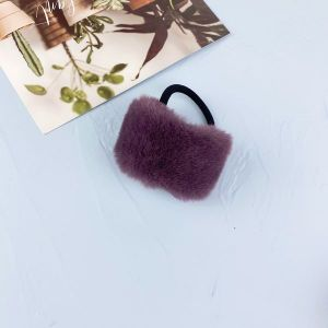 Purple Candy Color Imitation Rabbit Hair Rope