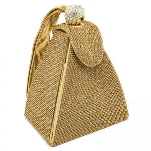 Pyramid Rhinestone Handbag