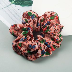 Cotton And Linen Scrunchies Red