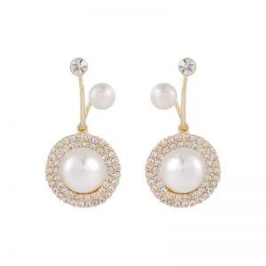 Diamonds Pearl Fashion Twisted Simple Earrings