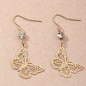 Butterfly Ethnic Style Leaf Flower Earrings