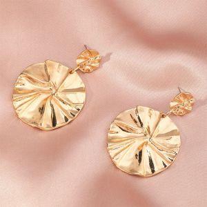 Fashion Retro Baroque Style Metal Earrings