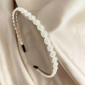 Pearl Bowknot Crown Headband