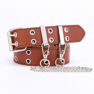 Punk Style Double Exhaust Eye Belt
