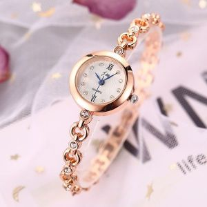 Gold Snowflake Face Bracelet Watch