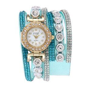 Sky Blue Diamond Bracelet Watch