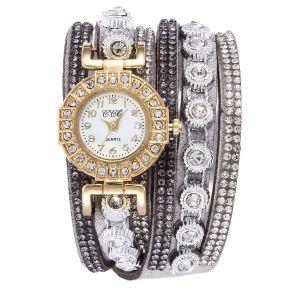 Grey Diamond Bracelet Watch