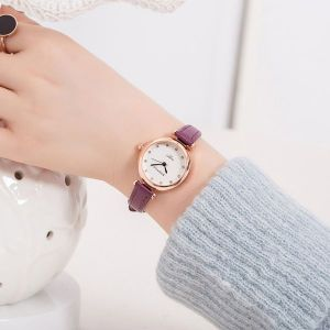 Purple Strap Wrist Watch