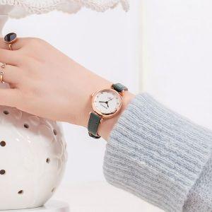 Green Strap Wrist Watch
