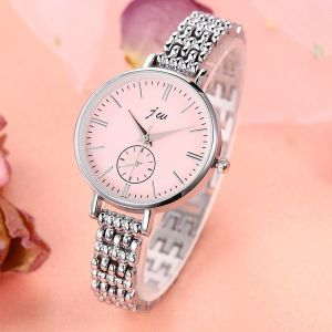Fashion Large Dial Thin Strap Quartz Alloy Bracelet Watch