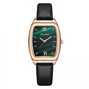 Barrel-shaped Thin Belt Watch