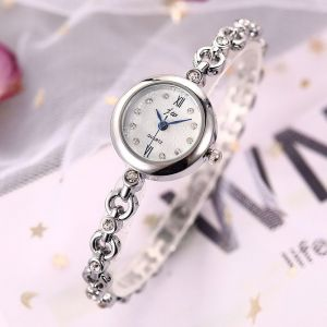 Silver Snowflake Face Bracelet Watch