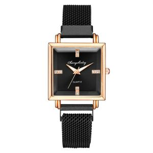 Black Square Dial Trendy Watch