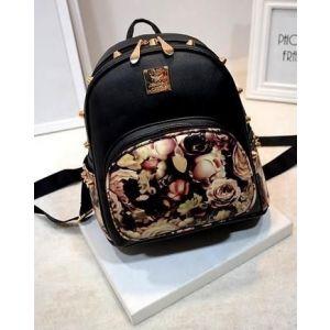 Tide Bag Casual Explosion Backpack Black Rose