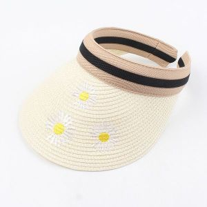 Summer Hat Embroidery Headband Straw Hat