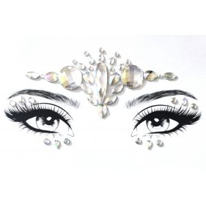 MGB White Self Adhesive Face Jewels