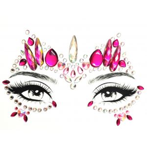 MGB Pink And White Face Jewels