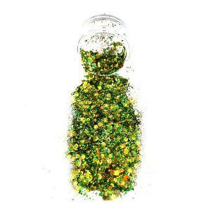 Green Gold Body Glitter pot