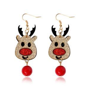 Christmas Elk Non-woven Collection Fashion Earrings