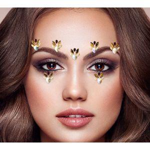 Gold Flower Face Jewel