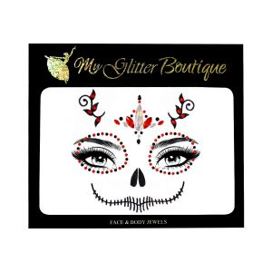 Candy Skull Jewels Halloween Sticker