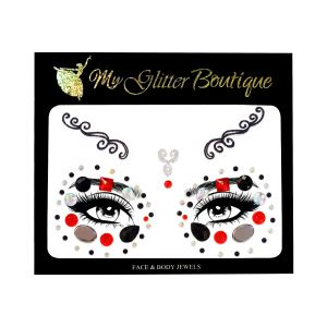 Jewelled Eyes Halloween Face Stickers