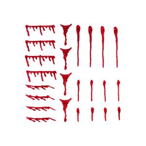 Blood Drops Halloween Face Stickers