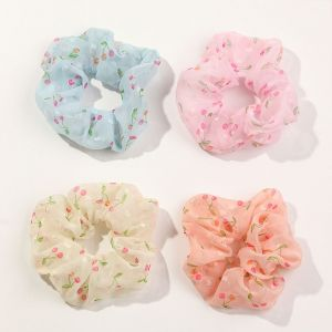 Chiffon Fruit Hair Scrunchies