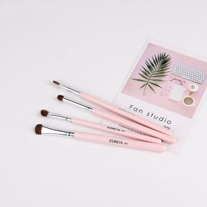 Pink Four Sets Makeup Brushes