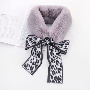 Rabbit Fur Collar Warm Scarf