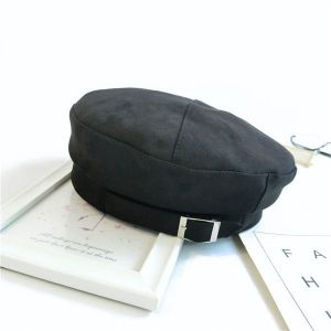 Black Beret with Buckle