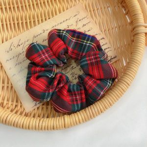 Plaid Red Scrunchie