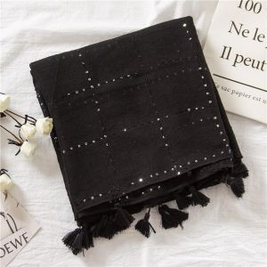 Sequined Scarf- Black 180*100