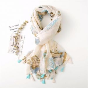Feather Tassel Scarf