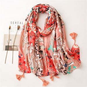 Flower Long  Scarf