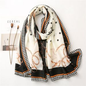 New Cotton And Linen Printed Women Fashion Shawl Warm Scarf