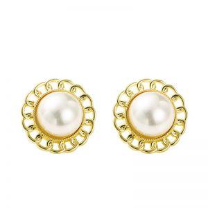 Elegant Big Pearl Earrings