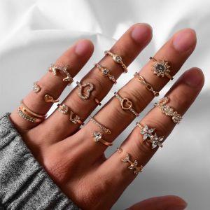 14 Piece Set Ladies Ring Set